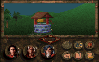 Betrayal at Krondor DOS Of course I'm going to click on the well, James. No matter what, I WILL! This is what RPGs are all about, my friend
