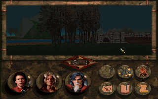 Betrayal at Krondor DOS A small grove and a bridge ahead