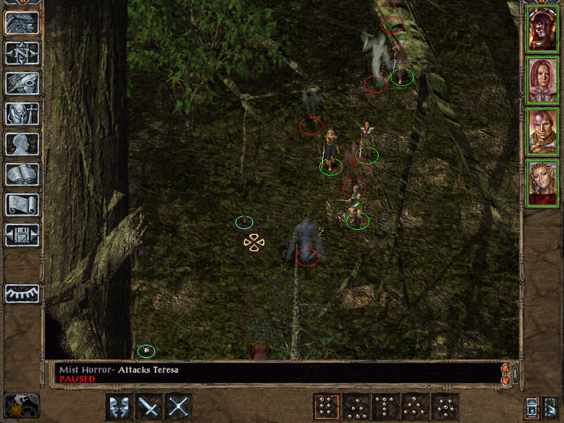 Baldur's Gate II: Shadows of Amn Windows The mysterious Forest of Tethir... You are being attacked by ghosts of some sort, but still try to talk to that little squirrel...