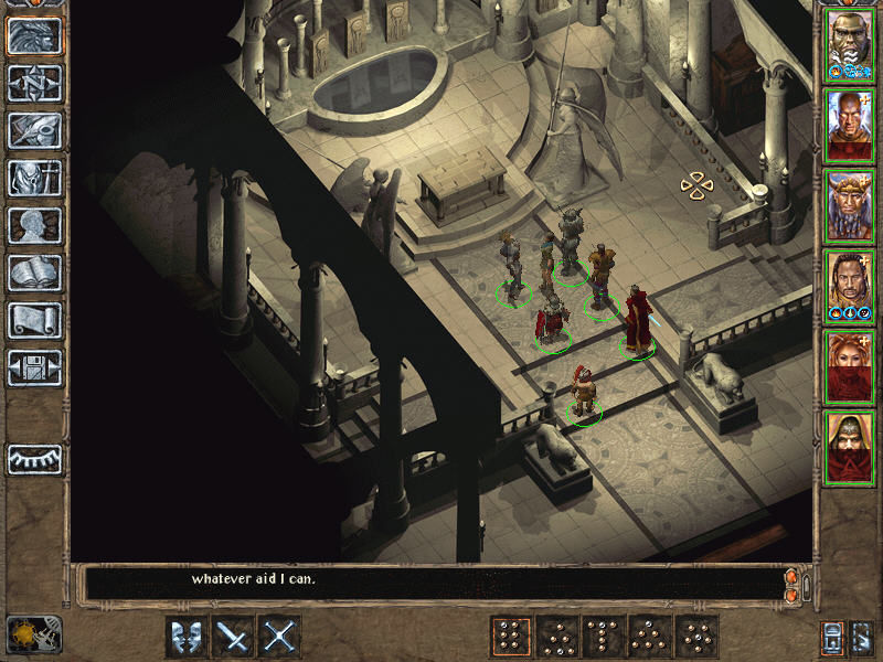 Baldur's Gate II: Throne of Bhaal Windows Splendid art in one of the temples