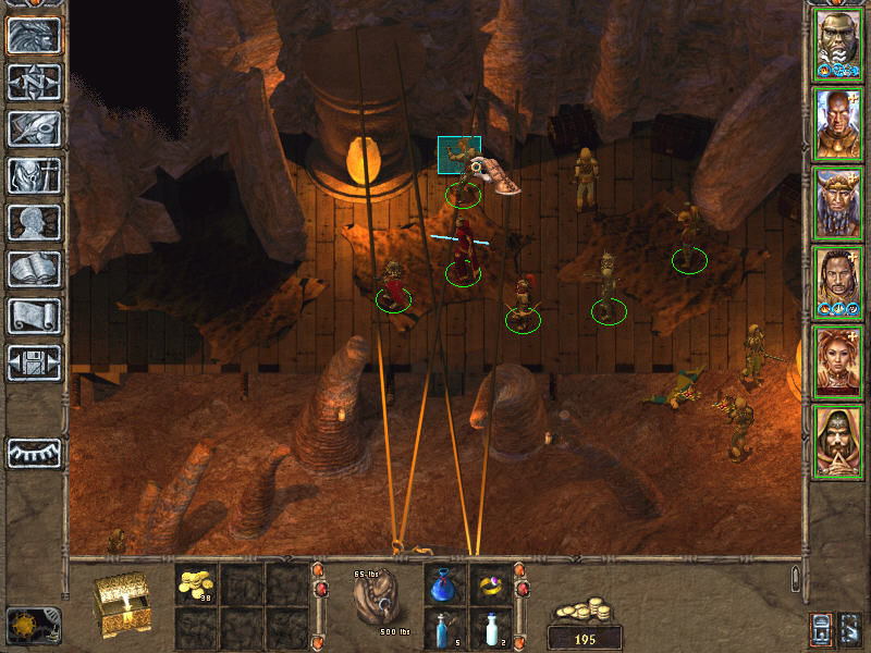 Baldur's Gate II: Throne of Bhaal Windows Cozy Smugglers' Cave. You open a chest and get hit by a trap