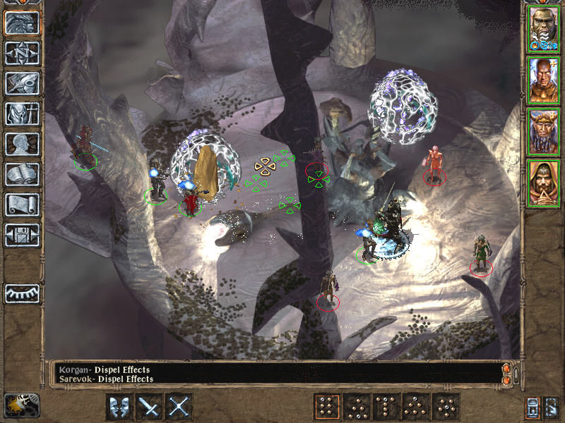 Baldur's Gate II: Throne of Bhaal Windows A fierce battle in icy caverns