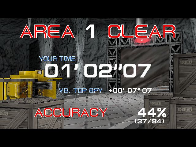 Time Crisis Arcade Area 1 clear.