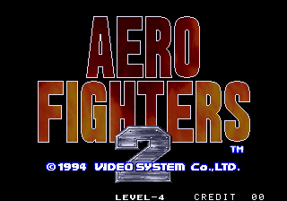Aero Fighters 2 Arcade Title Screen.
