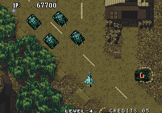 Aero Fighters 2 Arcade Destroy them tanks.