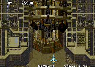 Aero Fighters 2 Arcade Approaching another boss.