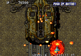 Aero Fighters 2 Arcade Explosion underneath you.