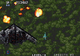 Aero Fighters 2 Arcade Destroyed the boss.