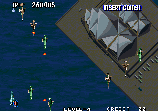 Aero Fighters 2 Arcade Sydney Opera House.