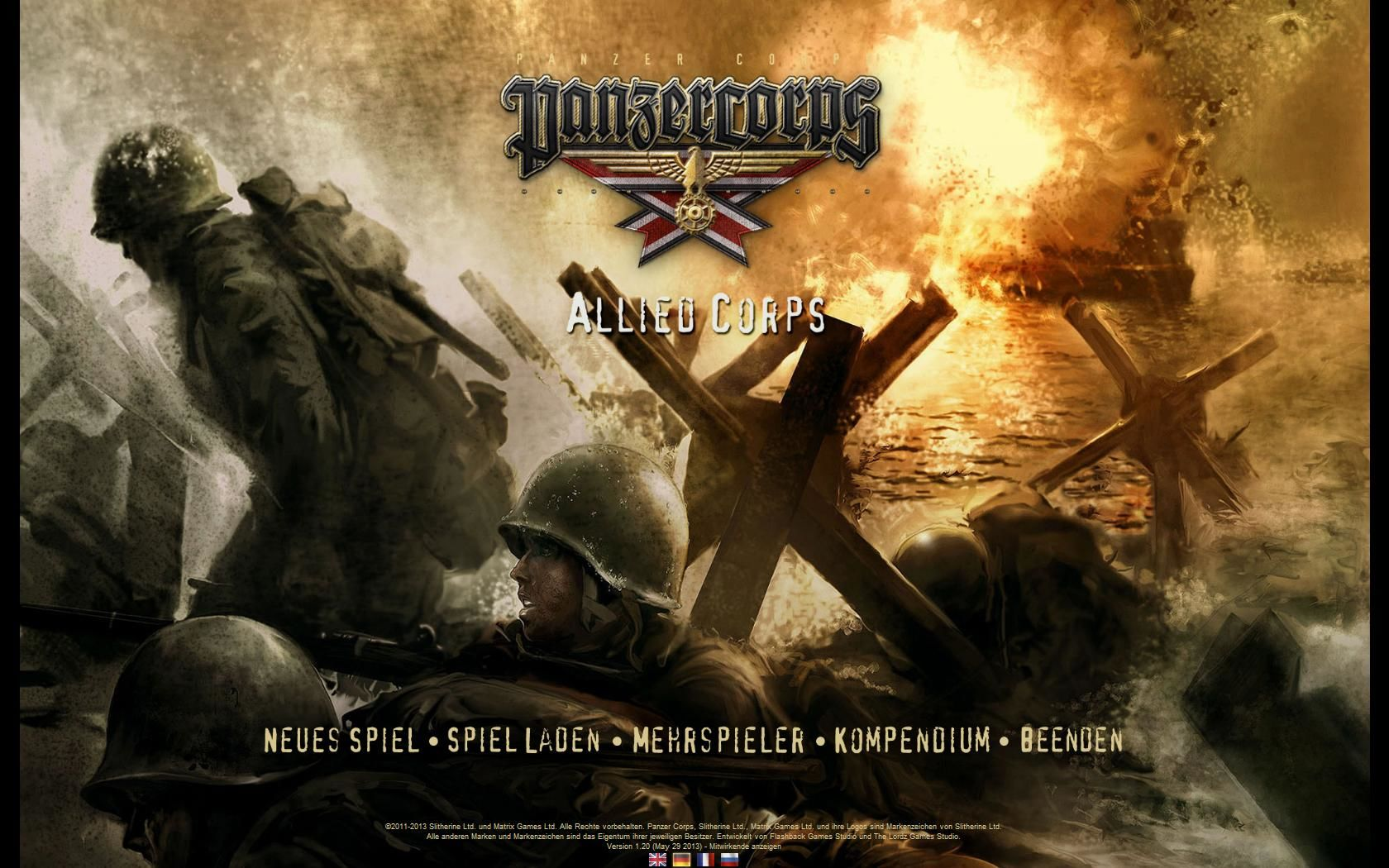Panzer Corps: Allied Corps Windows Start screen
