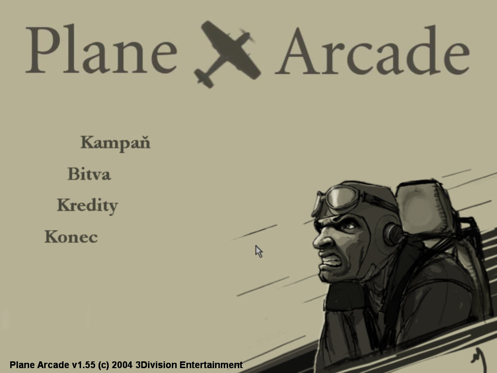 Plane Arcade Windows Title screen