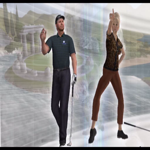 Tiger Woods PGA Tour 2005 PlayStation 2 The game starts with an animated sequence. initially this shows previous golfing greats but as it progresses it becomes more of a dance routine