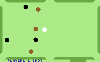 Minnesota Fats' Pool Challenge Commodore 64 Which ball next (UK)