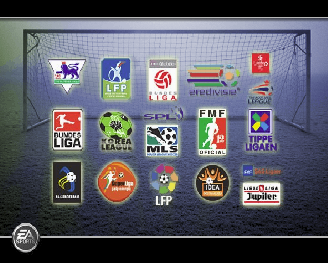 FIFA Soccer 06 PlayStation 2 The official logos of all the leagues available in the game