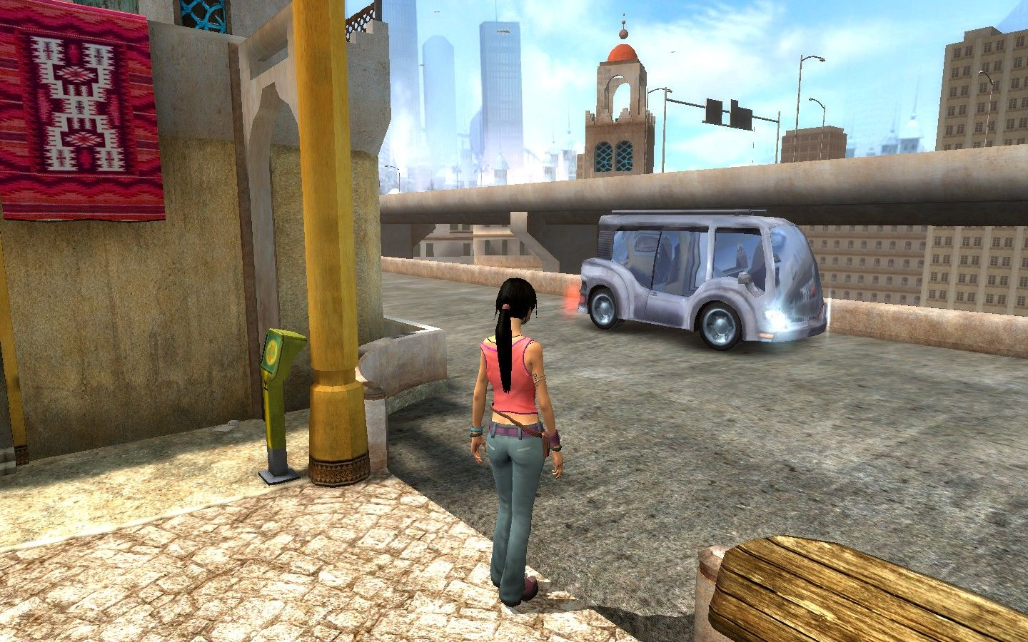 Dreamfall: The Longest Journey Windows You can call a cab to travel to other parts of the city.