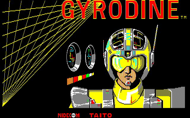 Gyrodine Sharp X1 Yellow title screen