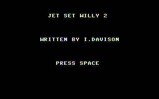 Jet Set Willy II: The Final Frontier Commodore 16, Plus/4 Title Screen.