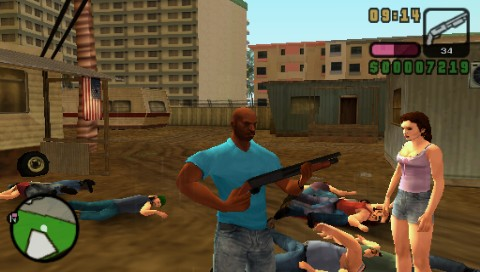 Grand Theft Auto: Vice City Stories PSP Vic is one serious dude