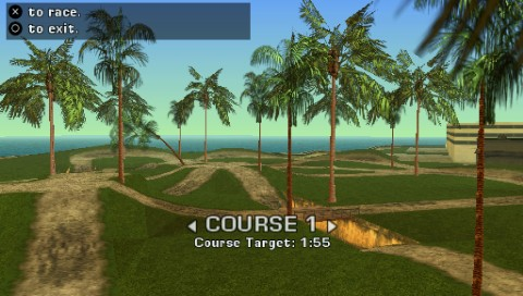 Grand Theft Auto: Vice City Stories PSP The off-road track offers a lot of time trials in different categories