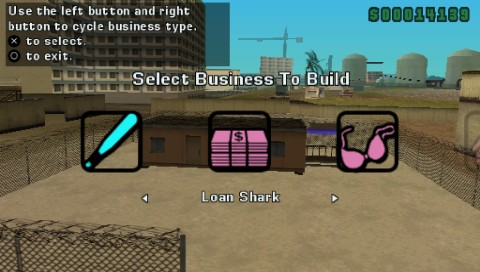 Grand Theft Auto: Vice City Stories PSP Once you successfully attack and purchase the site you can build a business of your choice