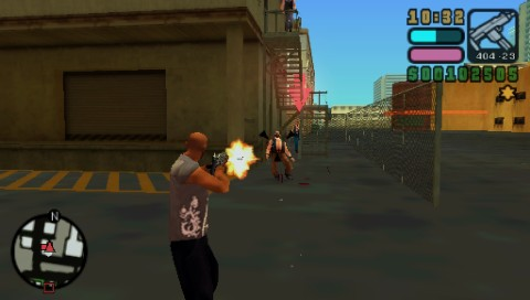 Grand Theft Auto: Vice City Stories PSP Attacking the rival gang's business site
