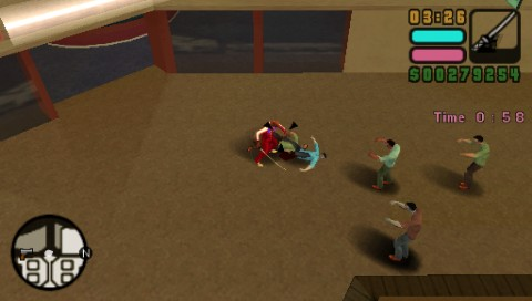 Grand Theft Auto: Vice City Stories PSP Smashing actors dressed like zombies!