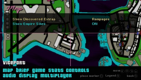 Grand Theft Auto: Vice City Stories PSP For the first time in the series you can auto-check the discovered collectibles on the game map making the life of a completionist so much easier!