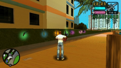 Grand Theft Auto: Vice City Stories PSP It really pays off to get those red balloons.
