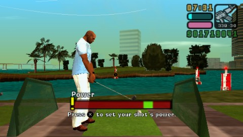 Grand Theft Auto: Vice City Stories PSP A game of golf