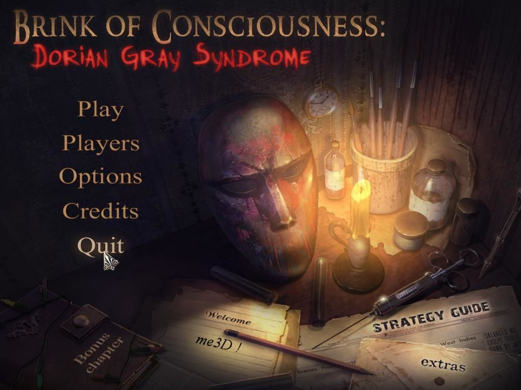 Brink of Consciousness: Dorian Gray Syndrome Windows Title / main menu