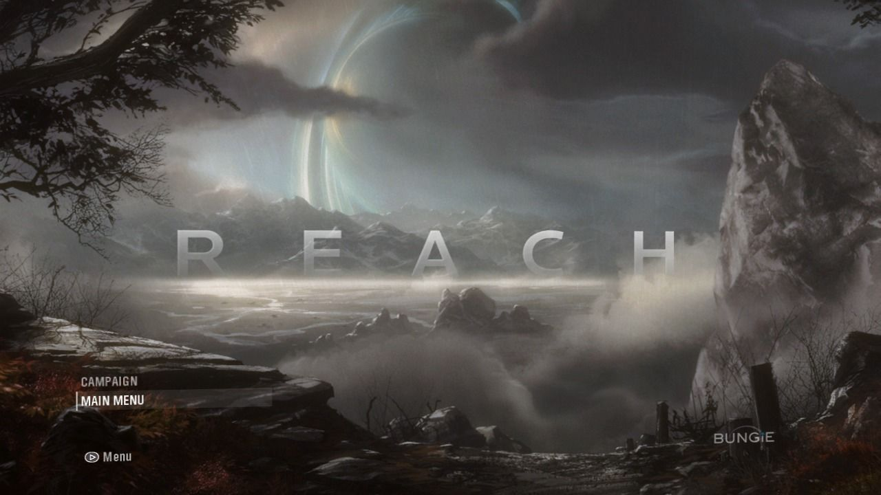 Halo: Reach Xbox 360 Boot menu screen.