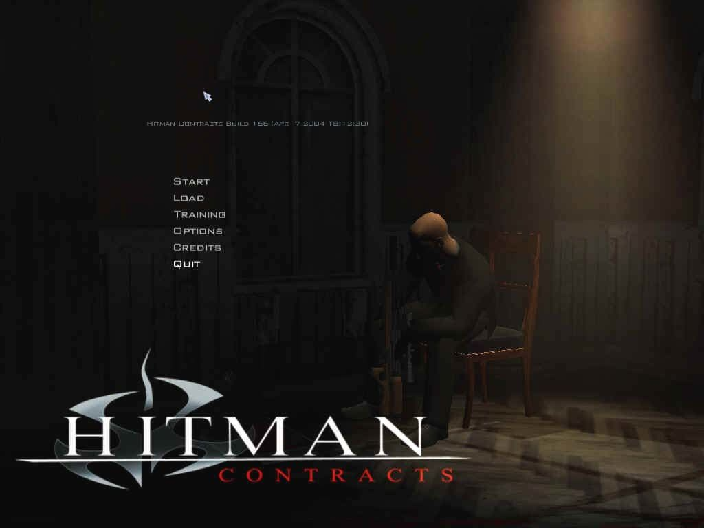 Hitman: Contracts Windows Title screen.
