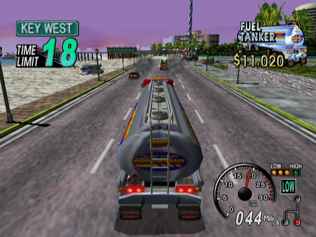 Eighteen Wheeler: American Pro Trucker GameCube No time to hang out on the beach.