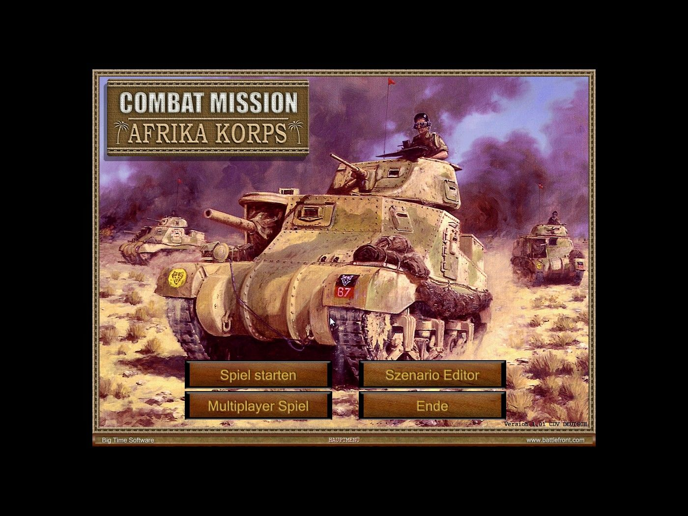 Combat Mission 3: Afrika Korps Windows Main Screen