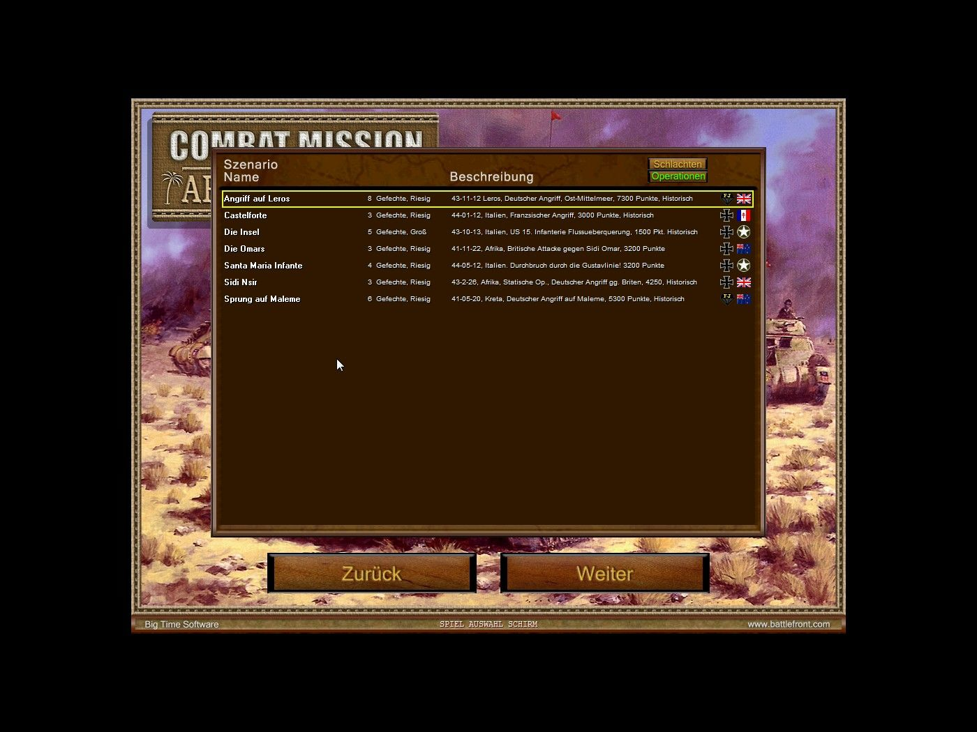Combat Mission 3: Afrika Korps Windows Choose campaign