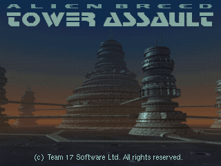 Alien Breed: Tower Assault DOS Title screen
