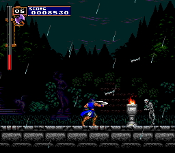Castlevania: Rondo of Blood TurboGrafx CD Rainy weather, desolate forest road, maniacal skeletons... I  hate Mondays