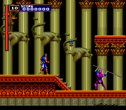 Castlevania: Rondo of Blood TurboGrafx CD Nice palace. Great art here and there. A highly dangerous warrior showing off right in front of me. I could use a break