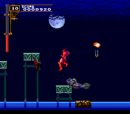 Castlevania: Rondo of Blood TurboGrafx CD Aaaaahh! Not again! Don't push me off that platform, you... you... amphibious freak!