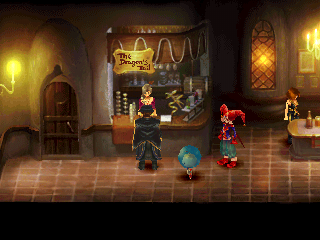 Chrono Cross PlayStation A bar in Termina. Come for the drinks, stay for plot progression