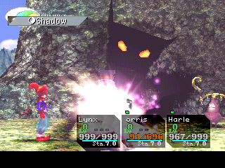 Chrono Cross PlayStation Ouch. This is the Valley of Fossils, and we have a mighty ghost attacking!