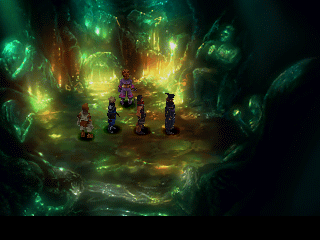 Chrono Cross PlayStation A mysterious cave leading to an even more mysterious cave... but we can't pass yet, we need that RPG Priority Item!..