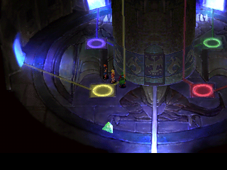 Chrono Cross PlayStation Colored dots connected, puzzle solved - we can continue! Or... is it so?..