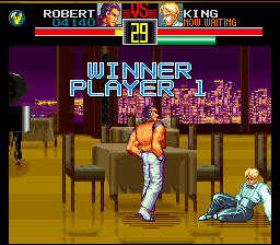 Art of Fighting SNES Smug rich boy.