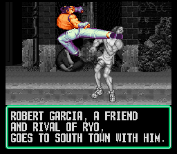 Art of Fighting SNES Robert Garcia. Rich boy, and single too!