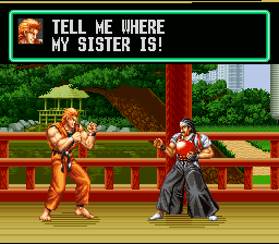 Art of Fighting SNES TELL HIM, TODOH! [Yes, he's in Capcom Vs. SNK 2!]
