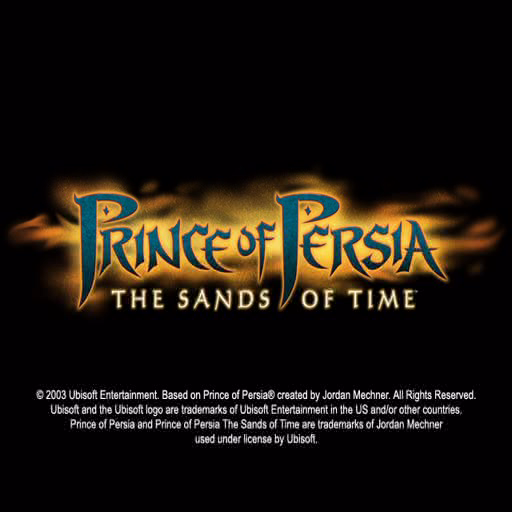 Prince of Persia: The Sands of Time PlayStation 2 The game's title screen