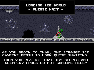 Superfrog DOS Ice World Begin