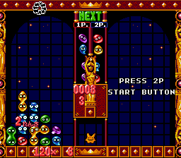 Puyo Puyo 2 SNES Endless Mode