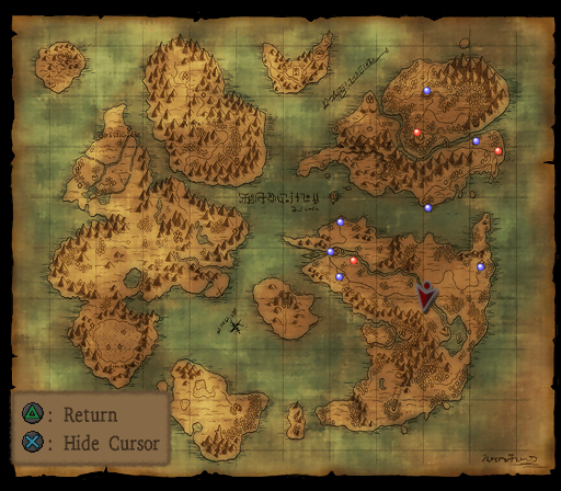 Dragon quest viii journey of the cursed king screenshots for d it comes in two shapes this one being the zoomed out world map gumiabroncs Choice Image